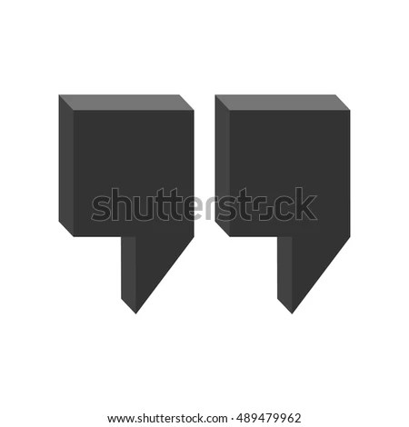 Quote Icon Commas 3 D Quotes Vector Stock Vector (Royalty Free