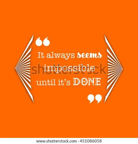 Quote Template On Orange Background Vector Stock Vector (Royalty