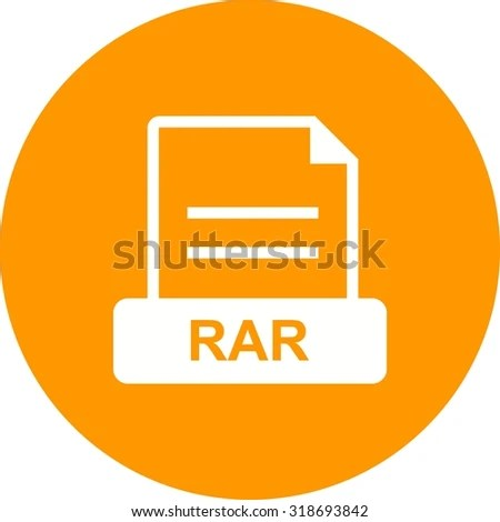 RAR File Archive Icon Vector Image Stock Vector (Royalty Free