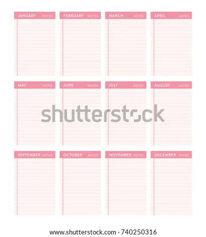 Ready Print Monthly Yearly Calendar Do Stock Vector (Royalty Free