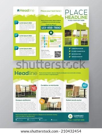 Real Estate Brochure Flyer Design Vector Stock Vector (Royalty Free