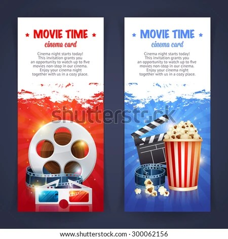 Realistic Cinema Movie Poster Template Film Stock Vector (Royalty