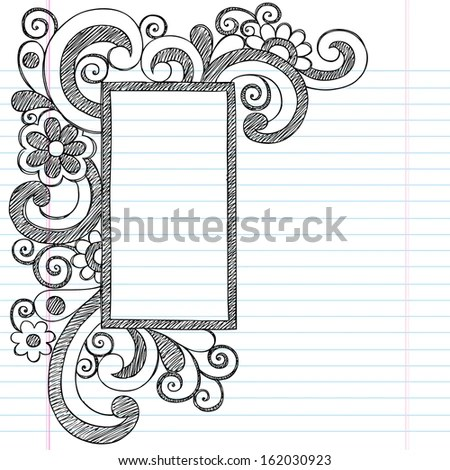 Rectangle Picture Frame Border Back School Stock Vector (Royalty