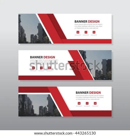 Uma Name Wallpaper 3d Vetor Stock De Red Abstract Corporate Business Banner