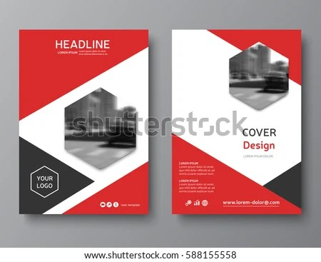 Red Annual Report Cover Modern Brochure Stock Vector (Royalty Free