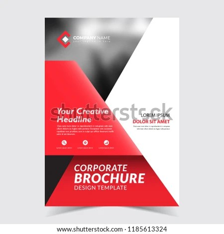 Red Black Flyer Template Design Modern Stock Vector (Royalty Free