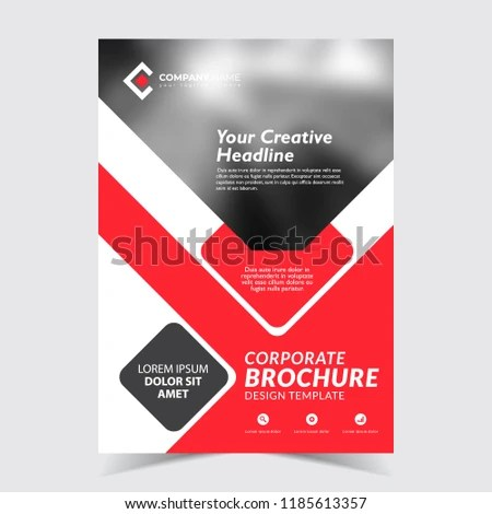 Red Black Flyer Template Design Business Stock Vector (Royalty Free