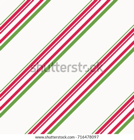 Red Green Candy Cane Stripes Christmas Stock Vector (Royalty Free