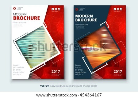 Red Modern Cover Page Design Corporate Stock Vector (Royalty Free