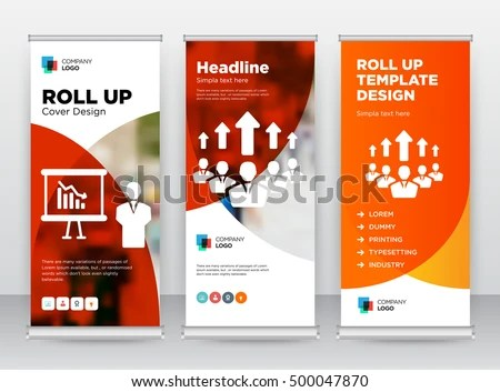 Red Orange Training Growing Team Building Stock Vector (Royalty Free
