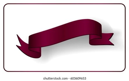 Red Ribbon Banner Satin Glossy Bow Stock Illustration 765464767