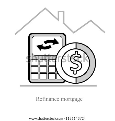 Refinance Mortgage Down Payment Annuity Effective Stock Vector