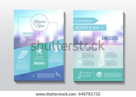 Resort Spa Flyer Spa Wellness Medical Stock Vector (Royalty Free