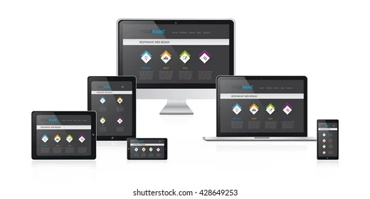 Responsive Web Design Illustration Media Devices Stock Vector - Responsive Media