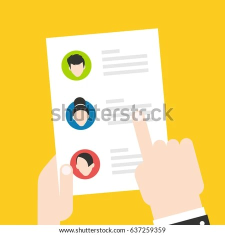 Resume CV Find Person Job Opportunity Stock Vector (Royalty Free