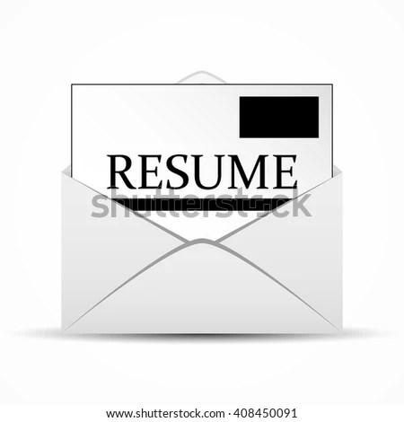 Resume Envelope Stock Vector (Royalty Free) 408450091 - Shutterstock