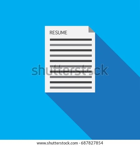 Resume Long Shadow Design Talent Acquisition Stock Vector (Royalty