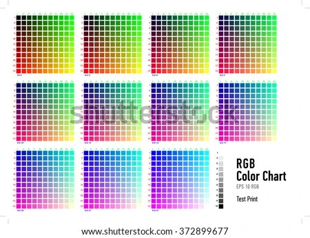 RGB Press Color Chart Stock Vector (Royalty Free) 372899677