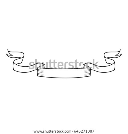 Ribbon Banner Decoration Label Template Stock Vector (Royalty Free