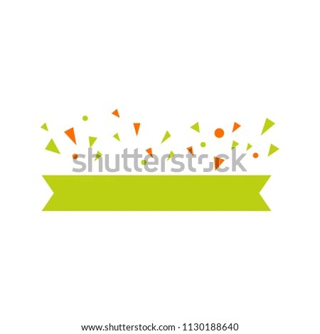 Ribbon Banner Template Stock Vector (Royalty Free) 1130188640