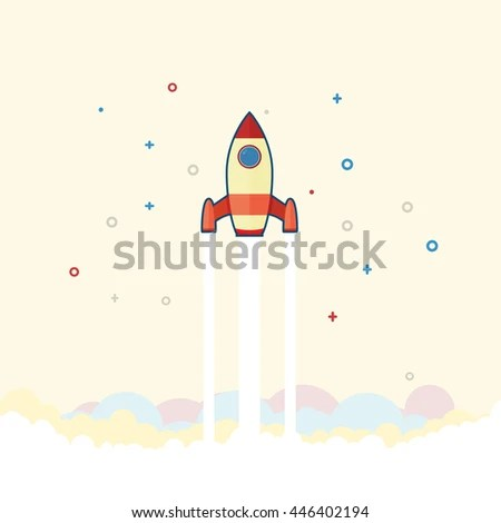 Rocket Launch Presentation Product Launch Stock Vector (Royalty Free