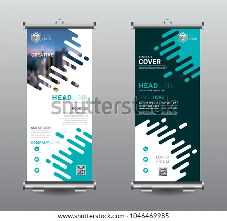 Roll Banner Standee Business Brochure Template Stock Vector (Royalty