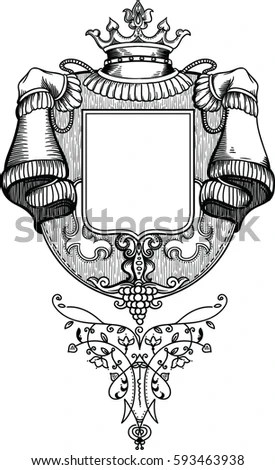 Royal Coat Arms Vineyard Wooden Texture Stock Vector (Royalty Free