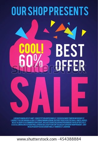 Sale Poster Template Best Offer Modern Stock Vector (Royalty Free