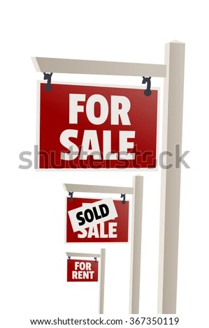 Sale Sign Sold Sign Rent Sign Stock Vector (Royalty Free) 367350119