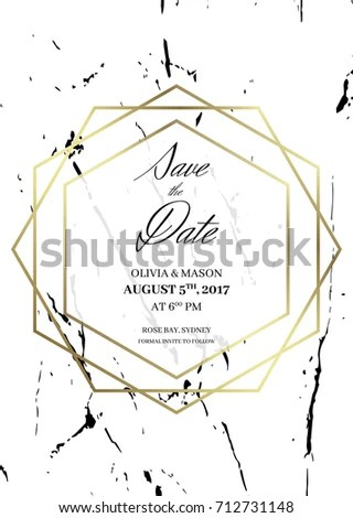 Save Date Design Template Formal Invite Stock Vector (Royalty Free