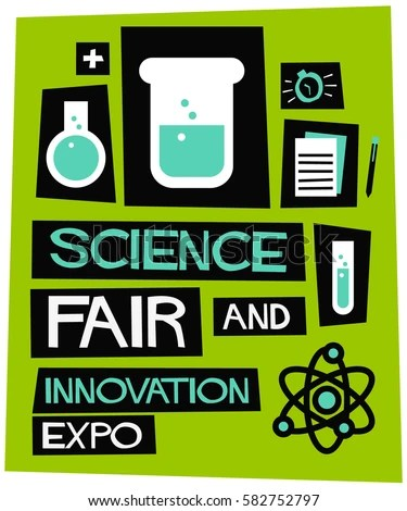 Science Fair Innovation Expo Flat Style Stock Vector (Royalty Free