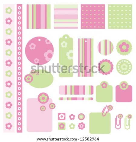 Seamless Baby Patterns Lovely Templates Scrapbook Stock Vector