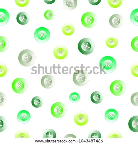 Seamless Clothing Green Jade Buttons Template Stock Vector (Royalty