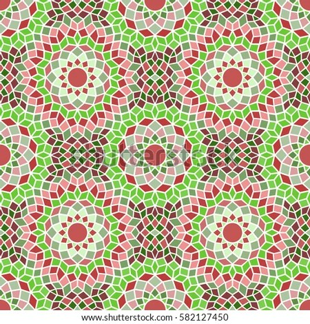 Seamless Colorful Fancy Background Pattern Mediterranean Stock