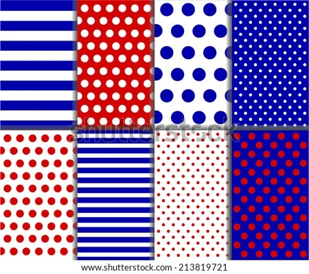 Seamless Jumbo Small Polka Dot Stripes Stock Vector (Royalty Free