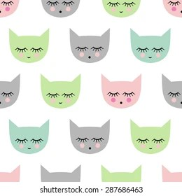 Cute Cats Wallpaper With Polka Dot Bow Tie Cat Face Icon Stock Vectors Images Amp Vector Art