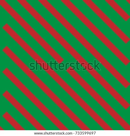 Seamless Red Stripes Pattern On Green Stock Vector (Royalty Free