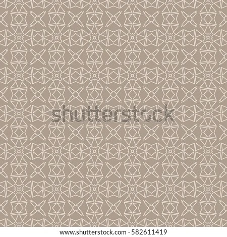 Seamless Sophisticated Geometric Pattern Based On Stock Vector