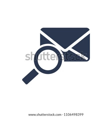 Search Mailing Address Find Mail Icon Stock Vector (Royalty Free