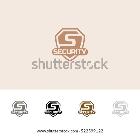 Security Logo Badge Vector Template Stock Vector (Royalty Free