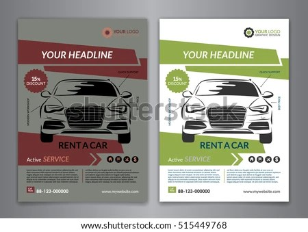 Set A 5 A 4 Rent Car Business Stock Vector (Royalty Free) 515449768