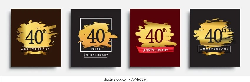 40th birthday Images, Stock Photos  Vectors Shutterstock