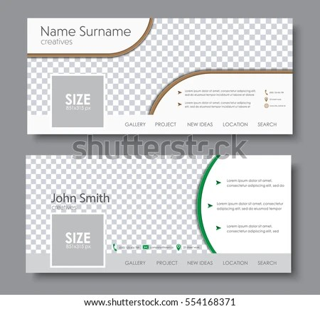 Set Banners Standard Size Social Network Stock Vector (Royalty Free