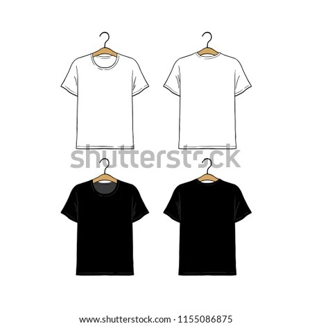 Set Blank Hanging Tshirt Design Template Stock Vector (Royalty Free