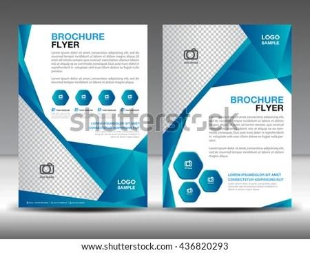 Set Blue Brochure Flyer Design Layout Stock Vector (Royalty Free