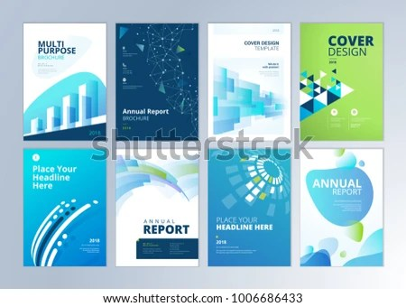 Set Brochure Annual Report Flyer Design Stock Vector (Royalty Free