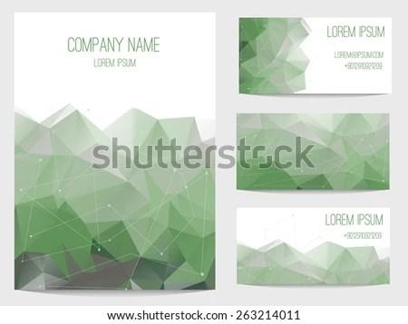 Set Business Card Invitation Card Templates Stock Vector (Royalty