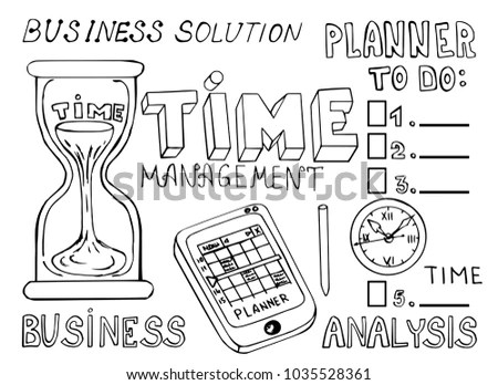Set Business Doodles Icons Computer Media Stock Vector (Royalty Free