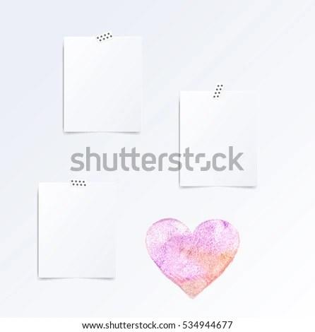 Set Folded Half Leaflets Mock Template Stock Vector (Royalty Free