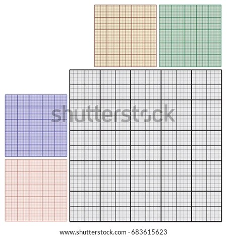 Set Industrial Sheets Paper Technical Drawing Stock Vector (Royalty